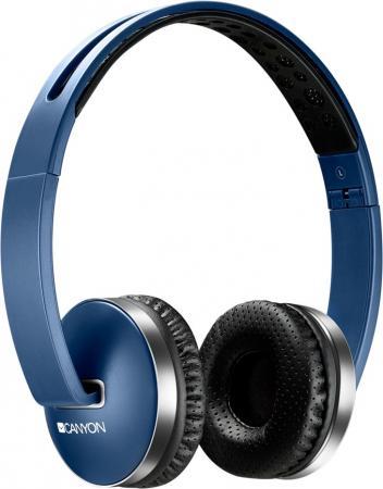 Гарнитура CANYON (синий,Bluetooth 4.2,управление громкостью и микрофоном,6 часов работы ,Mикро-USB,складные) (CNS-CBTHS2BL) все цены
