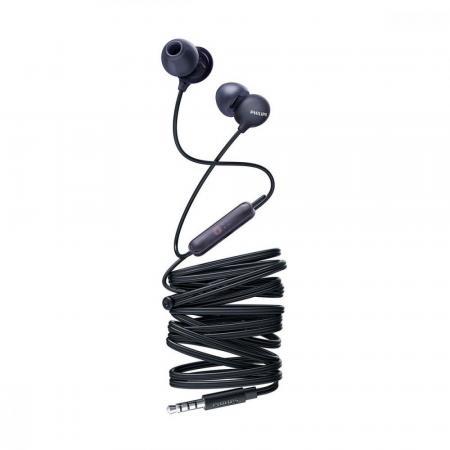 цена на Гарнитура Philips SHE2405BK/00 черный (вставные, 3,5 мм, микрофон)