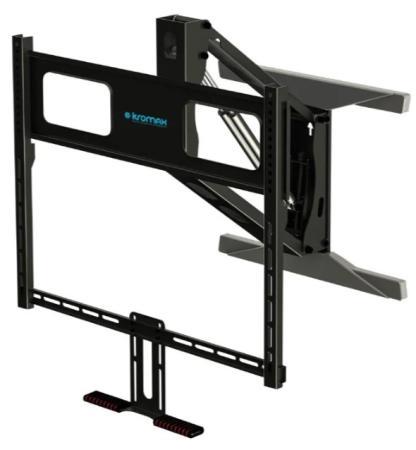 Фото - Кронштейн для телевизора Kromax ATLANTIS-99 черный 40-65 макс.35кг настенный поворот и наклон верт.перемещ. кронштейн