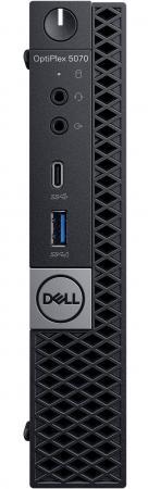 ПК Dell Optiplex 5070 Micro i7 9700T (2)/8Gb/SSD256Gb/UHDG 630/Windows 10 Professional 64/GbitEth/WiFi/BT/90W/клавиатура/мышь/черный пк dell optiplex 3070 micro i3 9100t 3 1 8gb ssd256gb uhdg 630 windows 10 professional 64 gbiteth wifi bt 65w клавиатура мышь черный