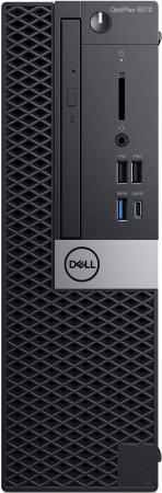 ПК Dell Optiplex 5070 SFF i5 9500 (3)/8Gb/SSD256Gb/UHDG 630/DVDRW/Windows 10 Professional/GbitEth/200W/клавиатура/мышь/черный пк dell optiplex 3070 micro i3 9100t 3 1 8gb ssd256gb uhdg 630 windows 10 professional 64 gbiteth wifi bt 65w клавиатура мышь черный