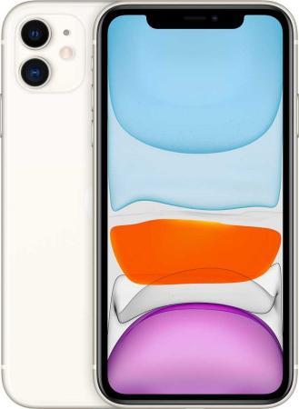 """цена на Смартфон Apple iPhone 11 белый 6.1"""" 128 Гб NFC LTE Wi-Fi GPS 3G Bluetooth MWM22RU/A"""