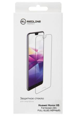 Защитное стекло для экрана Redline черный для Huawei Honor 8S 3D 1шт. (УТ000018105)