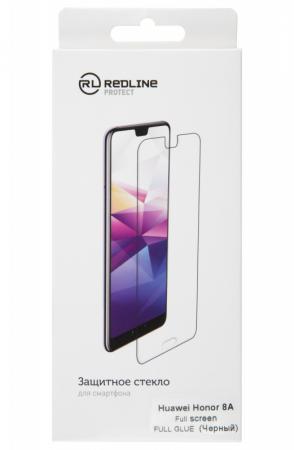 Защитное стекло для экрана Redline черный для Huawei Honor 8A 1шт. (УТ000017075)