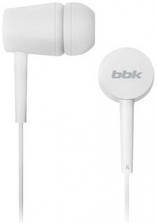 цена на Наушники вкладыши BBK EP-1002S 1.2м белый проводные (в ушной раковине)