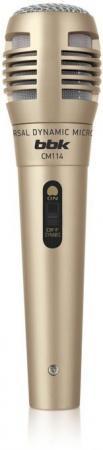 Микрофон для караоке BBK CM114 бронзовый аксессуар для телевизора bbk da05