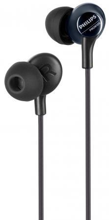 цена на Наушники Philips PRO6105BK/00 черный (накладки-2 пары, Микрофон)
