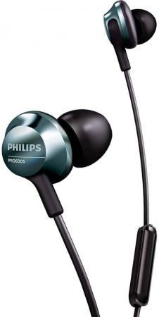 цена на Наушники Philips PRO6305BK/00 черный (накладки-2 пары, Микрофон)