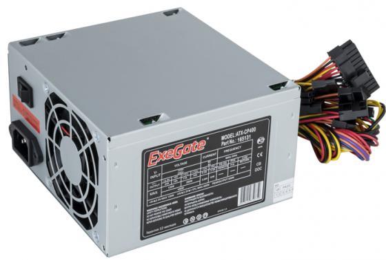 Exegate EX165131RUS-S Блок питания CP400, ATX, SC, 8cm fan, 24p+4p, 3*SATA, 2*IDE, FDD + кабель 220V с защитой от выдергивания