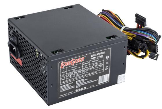 Блок питания ATX 600 Вт Exegate XP600 цена и фото