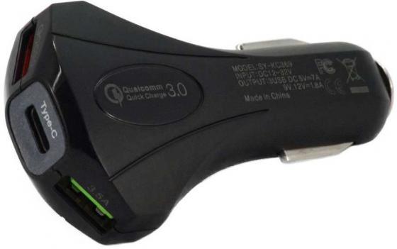 Автомобильное зар./устр. Wiiix UCC-3-6-QC3-UTC-B 1A+1A+2.1A универсальное черный