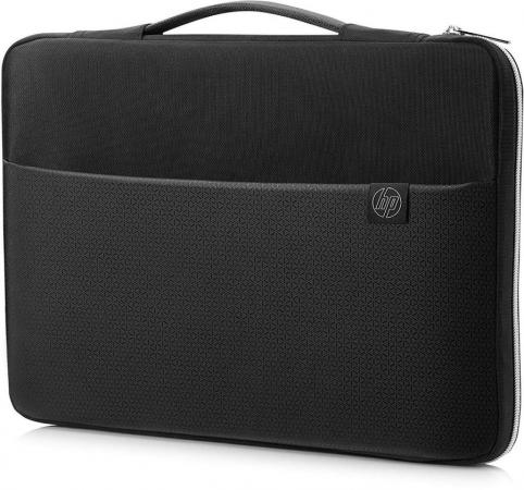 "Чехол для ноутбука 15"" HP Carry Sleeve синтетика черный серебристый 3XD36AA цена и фото"