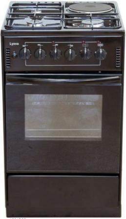 лучшая цена Плита Электрическая Лысьва ЭП 4/1э04 МС коричневый эмаль (без крышки)