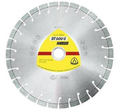 DT 600 U алмаз.отрезы.круги DT/SUPRA/DT600U/S/15UX2,4X22,23/18К/9