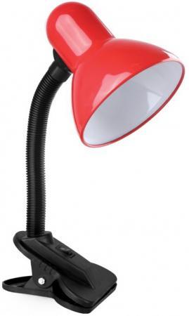 Фото - Camelion KD-320 C04 Красный (Светильник настольный с прищепкой 230В, 60Вт, E27, ЛОН) светильники camelion настольный с прищепкой kd 320