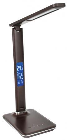 Camelion KD-818 C10 коричневый LED (Свет-к наст.,8 Вт,230В, сенс., часы, термометр) citilux cl561515 акцент коричневый св к наст потол