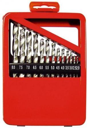 цена на Набор сверл MATRIX 723887 по металлу 1-10мм hss 19шт метал. коробка цил. хвостовик