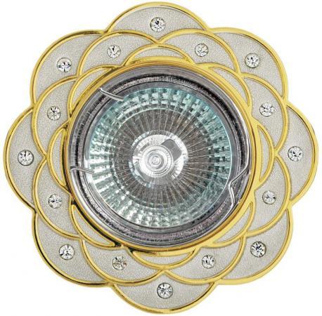 Светильник DE FRAN FT 193 PSG поворотный в центре стразы перламутровый серебро+золото светильник de fran ft 861 ch