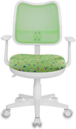 Кресло детское Бюрократ CH-W513AXN/CACTUS-GN зеленый кактусы Cactus-GN (пластик белый) ch 204nx cactus gn