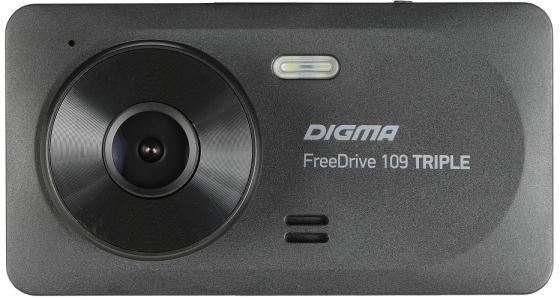 Видеорегистратор Digma FreeDrive 109 TRIPLE черный 1Mpix 1080x1920 1080p 150гр. JL5601