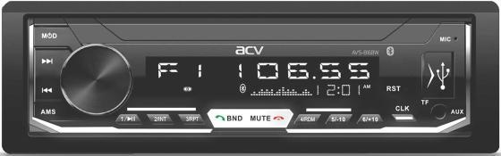 Автомагнитола ACV AVS-816BW 1DIN 4x50Вт автомагнитола acv avs 812r 1din 4x50вт