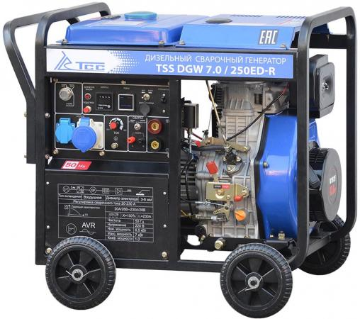 Генератор ТСС DGW 7.0/250ED-R инверторный дизельный сварочный tss генератор бензиновый tss sgg 6000e