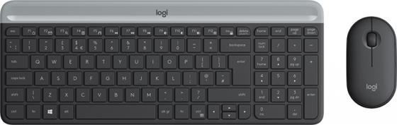 (920-009206) Клав. + Мышь Беспроводная Logitech Slim Wireless Combo MK470 GRAPHITE