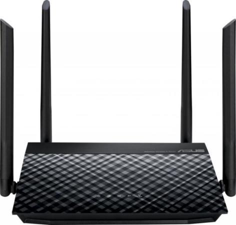 Беспроводной маршрутизатор ASUS RT-N19 802.11bgn 600Mbps 2.4 ГГц 2xLAN черный беспроводной маршрутизатор asus rt ac 5300
