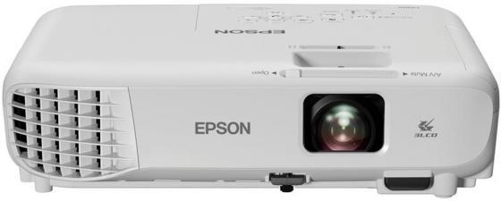 Фото - Проектор Epson EB-E001 1024x768 3100 люмен 10000:1 белый V11H839240 проектор epson eh tw610 1920х1080 3000 люмен 10000 1 белый v11h849140