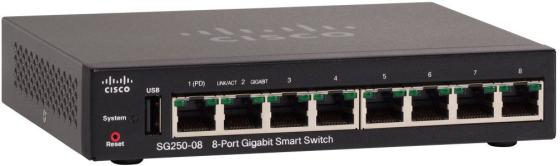 Cisco SB SG250-08-K9-EU Коммутатор 8-Port Gigabit Smart Switch