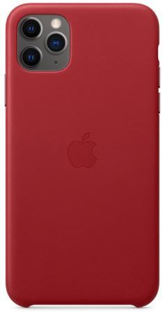 Чехол Apple Leather Case - (PRODUCT)RED для iPhone 11 Pro Max красный