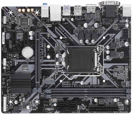 Материнская плата GigaByte H310M S2H GSM Socket 1151 v2 H310 2xDDR4 1xPCI-E 16x 2xPCI-E 1x 4 mATX Retail