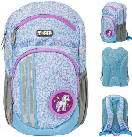 Купить Рюкзак LIVELY FROST, 2 съемн.апп, разм.34х20х15/33x19x14 см, анат.спинка, голубой, для дев., Tiger Enterprise, Рюкзаки и сумки