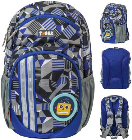 Купить Рюкзак LIVELY ELECTROLYTE, 2 съемн.апп, разм.34х20х15/33x19x14 см, анат.спинка, серый, для мал., Tiger Enterprise, Рюкзаки и сумки
