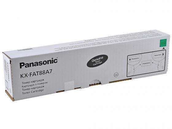Тонер-картридж Panasonic KX-FAT88A7 для KX-FL403 KX-FL413 2000стр. тонер картридж panasonic kx fat88a черный для panasonic kx fl403ru 2000стр
