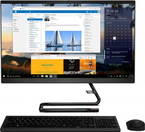 Купить Lenovo IdeaCentre AIO A340-24IWL 23.8 (1920x1080 IPS)/Intel Core i3 8145U(2.1Ghz)/4096Mb/128SSDGb/DVDrw/Int:Intel UHD Graphics 620/BT/WiFi/war 1y/5.87kg/black/DOS + Клавиатура, мышь USB