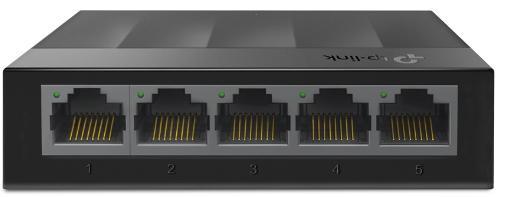 Коммутатор 5 ports Giga Unmanaged switch, 10/100/1000Mbps RJ-45 ports, plastic shell, desktop and wall mountable