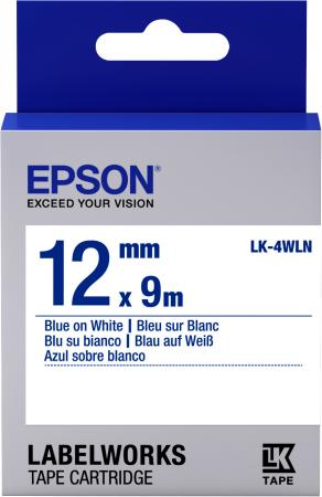 Фото - Epson Tape LK-4WLN Std Blue/Wht 12/9 18 30mm 5m kawaii rainbow life washi tape diy decoration tape scrapbooking planner masking tape adhesive tape label stationery