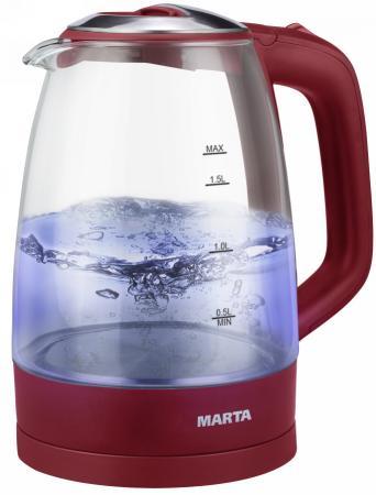 MARTA MT-1097 Vn/Gt Чайник бордовый гранат цена и фото