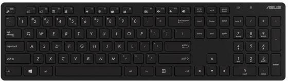 Клавиатура + мышь Asus W5000 клав:черный/черный мышь:черный USB беспроводная slim Multimedia цена и фото