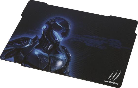 Коврик для мыши Hama Urage Cyberpad черный/синий коврик для мыши hama urage speed 113741