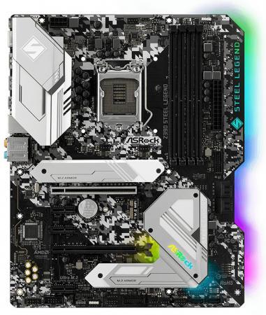 Материнская плата ASRock Z390 STEEL LEGEND Socket 1151 v2 Z390 4xDDR4 2xPCI-E 16x 3xPCI-E 1x 6 ATX Retail цена и фото