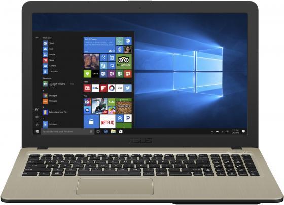 "Ноутбук Asus VivoBook R540BP-GQ133T A6 9225/4Gb/500Gb/AMD Radeon R5 M420 2Gb/15.6""/HD (1366x768)/Windows 10/black/WiFi/BT/Cam ноутбук lenovo ideapad 110 15acl a4 7210 4gb 500gb rd r5 m430 2gb wifi bt 15 6"