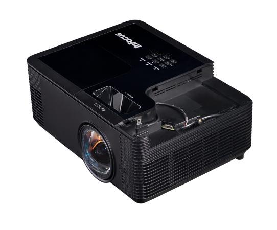 Проектор INFOCUS IN134ST DLP, 4000 ANSI Lm, XGA (1024x768), 28500:1, 0.626:1, 3.5mm in, Composite video, VGA, HDMI 1.4a x3 (поддержка 3D), USB-A (для SimpleShare и др.), лампа 15000ч.(ECO mode), 3.5mm out, Monitor out (VGA), RS232, RJ45, 21дБ, 3,2 кг проектор infocus inl144ust dlp 1024x768 4000 ansi lm