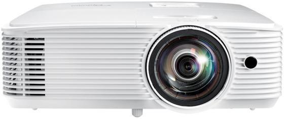 Фото - Проектор Optoma W308STe Full 3D; DLP, WXGA (1280*800), 3600 ANSI Lm, 22 000:1, Короткофокусный TR 0.521:1; HDMI 1.4a x1; VGA (YPbPr/RGB) x1;Composite x1; AudioIN x1; VGA Out; Audio Out;USB-A power 1A;RS232;10W x1; 26dB; 3.0 кг. белый [E1P1A28WE1Z1] проектор nec np4100w линза np07zl white dlp 1280 х 800 16 10 5500 lm 2100 1