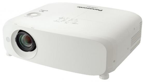 Фото - Проектор Panasonic PT-VX610E 1024x768 5500 люмен 16000:1 белый проектор panasonic pt ew650le