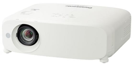 Фото - Проектор Panasonic PT-VX615NE 1024x768 5500 люмен 16000:1 белый проектор panasonic pt ew650le