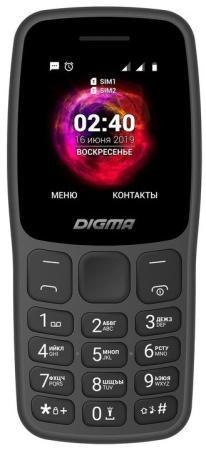 Мобильный телефон Digma C170 Linx 32Mb графит моноблок 2Sim 1.77 128x160 0.08Mpix GSM900/1800 MP3 FM microSD max16Gb