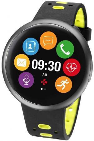 Смарт-часы MyKronoz ZeRound2HR Premium 12.8мм 1.22 TFT черный (KRZEROUND2HR-BK/YELL) цена