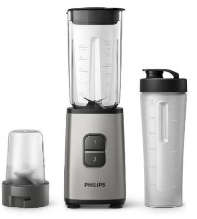Блендер стационарный Philips HR2604/80 350Вт серебристый/черный блендер philips hr3655 00 серебристый черный